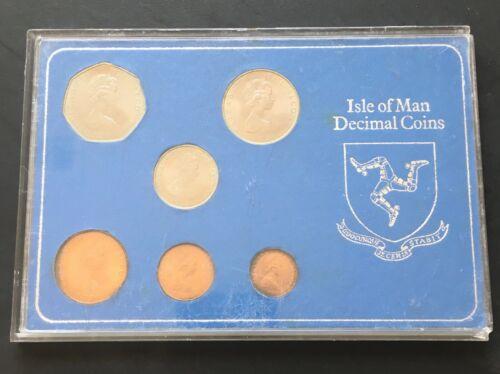 Isle of Man Decimal Coins 1971 Coin Set