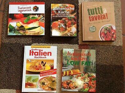 Kochbücher Italien 5 x Starkoch Italienisch vegetarisch Tutti a Tavola Low Fat