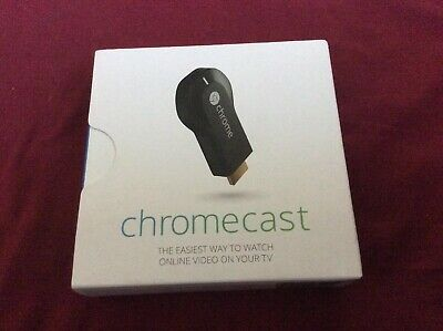 Google Chromecast (1st Generation) HDMI Media Streamer - Black