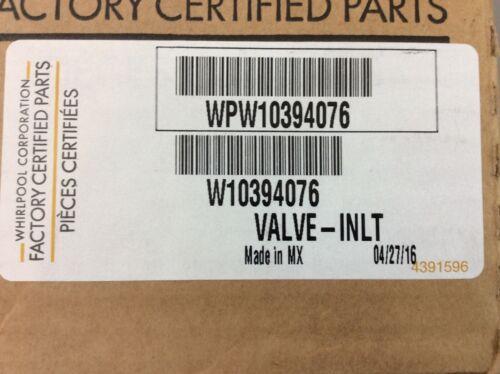 Whirlpool Refrigerator Water Inlet Valve Part WPW10394076 Ne