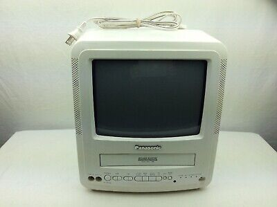 "Panasonic Road Show 9"" Portable TV / FM Radio / VCR Combo PV-M949W No Remote"
