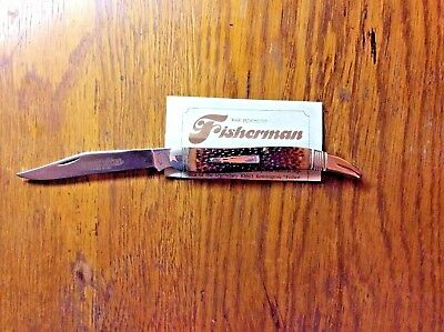VINTAGE 1987 REMINGTON R1613 DELRIN REMSTAG SCALES FISHERMAN'S FOLDING KNIFE