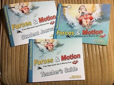 ELEMENTARY PHYSICAL SCIENCE: FORCES & MOTION (3 Book Set-Teacher, Student, Text) Physical Science Motion