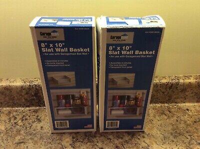 Two New Garagemaid Slat Wall Baskets 8 X 10