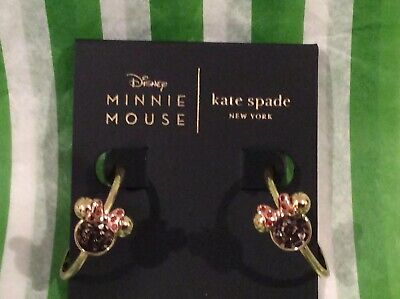 NEW Kate Spade Disney Minnie Mouse gold Statement Hoop Earrings $68 Disney Hoop Earring