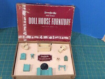 Strombecker True Scale Doll House Furniture No. 884 Bathroom w Original Box