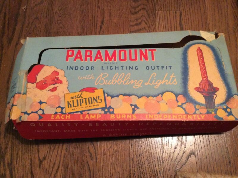Preowned PARAMOUNT Christmas Bubbling Lights With Kliptons  7 Light Set (c)