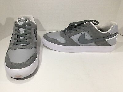 NIKE SB Mens Delta Force Gray Leather Casual Fashion Sneakers Shoes Sz 10 F5-174