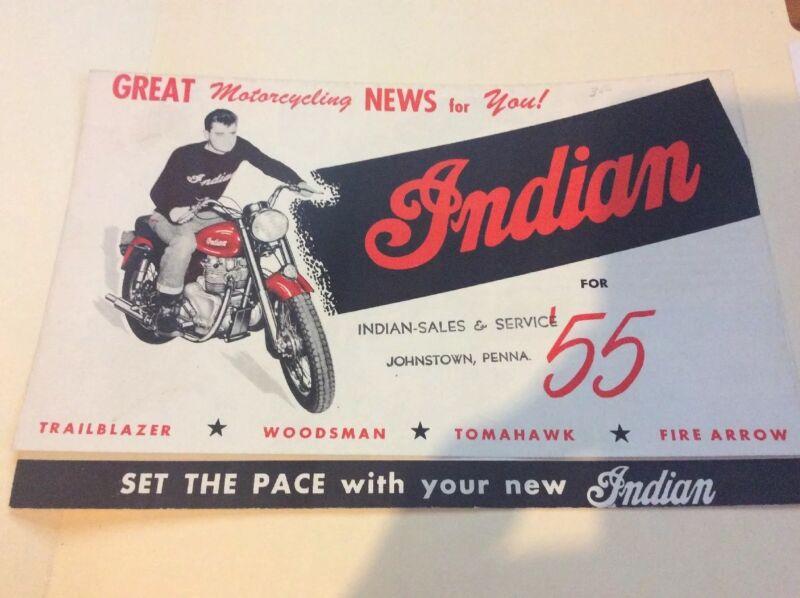 1955 INDIAN MOTORCYCLE SALES BROCHURE