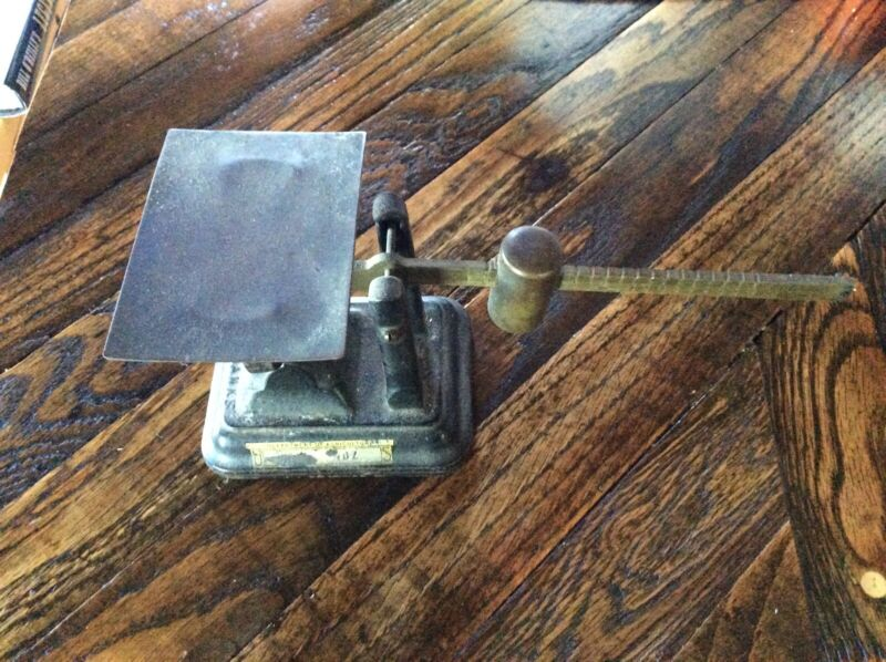 Antique Fairbanks Cast Iron And Coppper/brass Balance Slode Scale