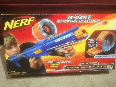 Nerf N-Strike Raider Rapid Fire CS-35 Dart Blaster New Old Stock New In Box