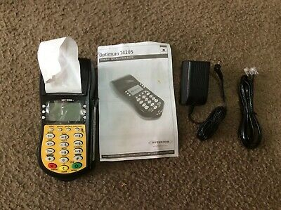 Hypercom Optimum T4205 Dial Credit Card Terminal I352