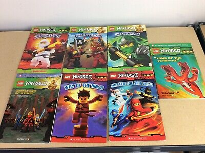 Lego Ninjago Masters of Spinjitzu 7 Book Lot - Free Shipping