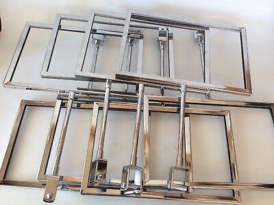 Retail Sign Holder Metal Shelf Rack Endcap Set Of 8 Some Missing Parts