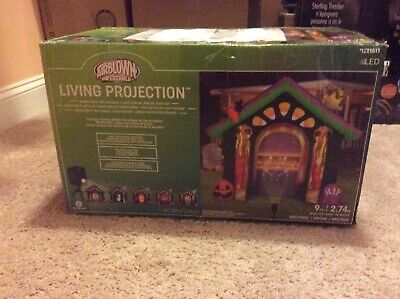 Gemmy Inflatable Halloween Archway Living Projection Projector Haunted House NEW