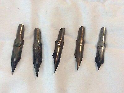 5 Pcs Vintage R. Esterbrook Pen Nibs DRAFTING DRAWING PEN (4) # 048 (1) 442
