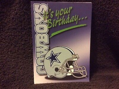 Dallas Cowboys Birthday Greeting Card - NOS  From The Late 90s