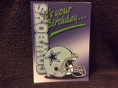 Dallas Cowboys Birthday Greeting Card - NOS  From The Late 90s](Dallas Cowboys Birthday Card)