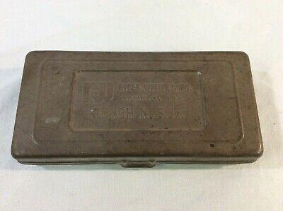 Roper Whitney No. 5 Jr Hand Punch Kit Metal Case Instructions Vintage