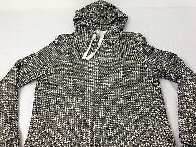Fabletics Hooded Yukon Sweater Dress Black & Cream Womens Large EUC