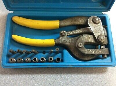 Roper Whitney Hand Punch Set In A Blue Hard Case