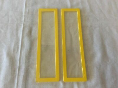 """1978 Barbie A-Frame Dream House Replacement Part: Window 7-1/2"""" X 2"""" (1 Pair)"""