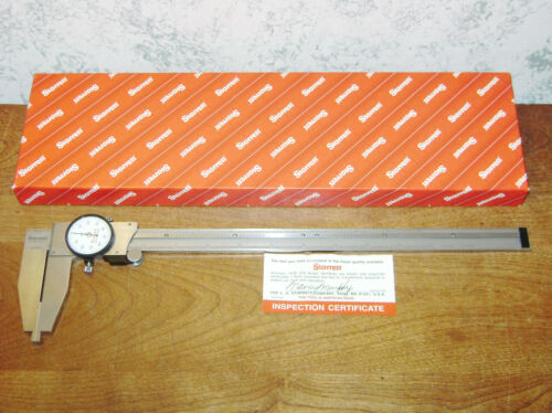 STARRETT 12 Inch DIAL CALIPER NO 120B w/ BOX - AMERICAN MADE