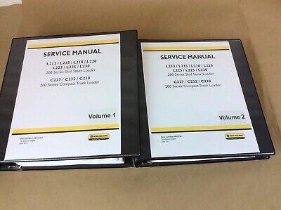 New Holland C227 C232 C238 Compact Tractor Loader Service Repair Manual Shop