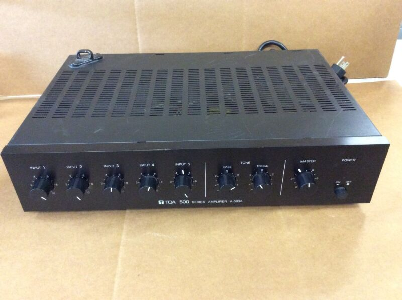 TOA A-503A 30 Watt 5-Channel Mixer / Amplifier Tested and Working
