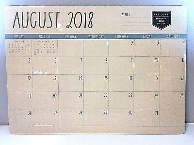 Nwt Rae Dunn Calendar 17 Months Desk Blotter Aug 2018 - Dec 2019