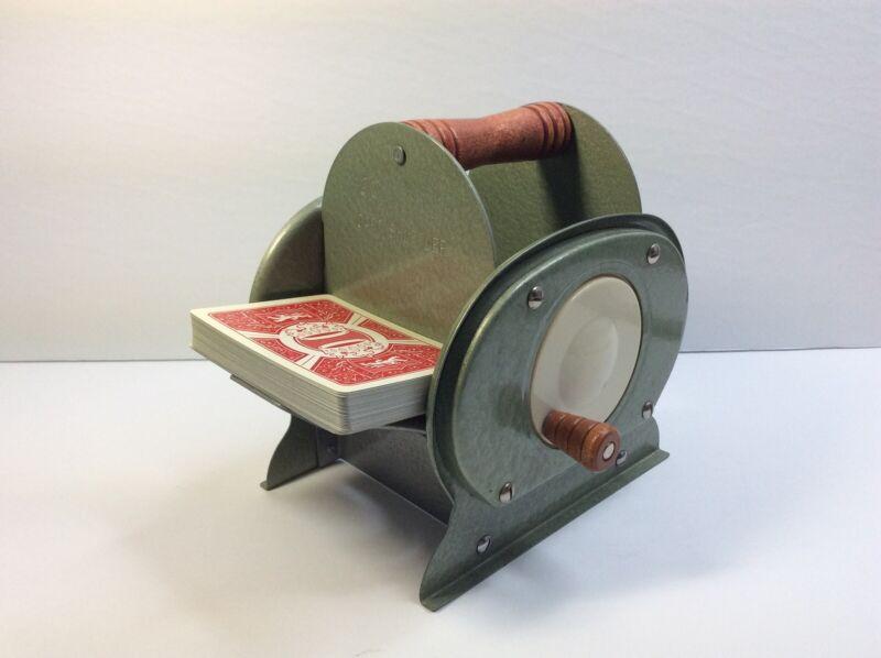 Vintage Retro Mid Century Nestor Johnson Green Card Shuffler, 1950
