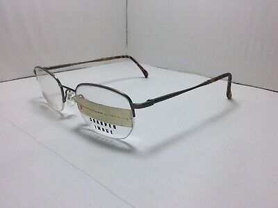 Sharper Image Eyeglasses FRAMES Men's Half Rimless Bronze 50[]17 (Specs Frame Images)