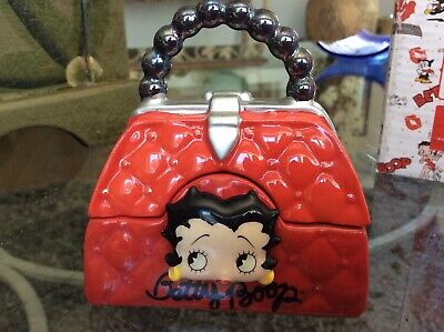 Betty Boop Red Quilted Handbag Ceramic Salt & Pepper NIB Hard To Find! Find Quilted Handbags