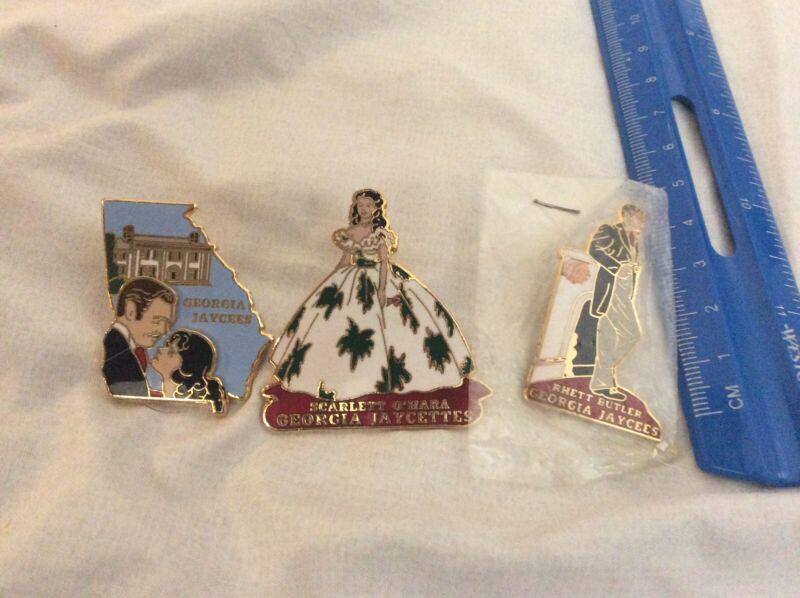 Vintage Jaycees  3 Gone with Wind Jaycee pins