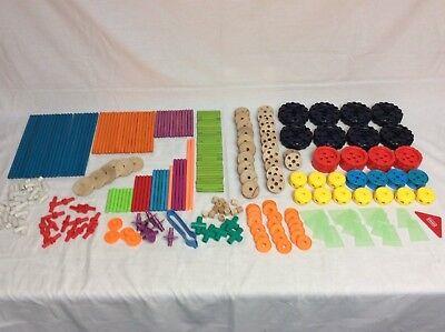 Ultra Construction Set (Big Lot Wooden Plastic Tinker Toys 270+ Pcs Playskool Ultra Construction Set +++)