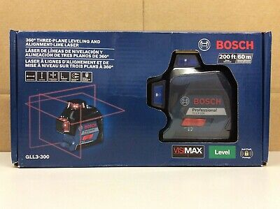 Bosch Gll3-300 200ft. 360 Three-plane Leveling Alignment-line Laser