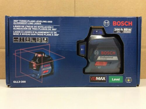 Bosch GLL3-300 200ft. 360° Three-Plane Leveling & Alignment-Line Laser