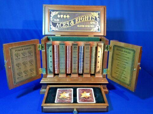 Rare Franklin Mint Aces & Eights Poker Set