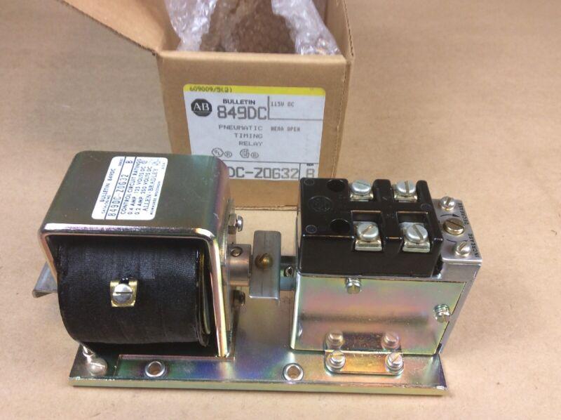 Allen-Bradley 849DC-Z0G32 Pneumatic Timing Relay NEMA Open 125 VDC Series B  New