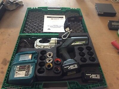Greenlee Ek1240l Gator Battery-powered 12-ton L Series Crimping Tool W5 Dies
