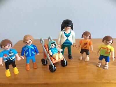 Playmobil Pregnant Woman With Children And Pushchair