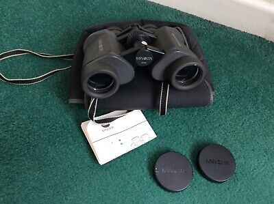 MINOLTA STANDARD EZ 7 X35 9.5 Degrees WIDE ANGLE BINOCULARS With Case & Instruct