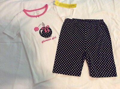 Girls Pijamas NWT Gymboree Shorts Gymmies 100% Cotton Size 8](Girls Pijamas)