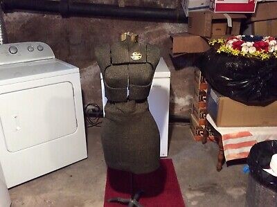 Vintage Dress Form W Adjustable Stand Body