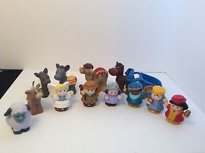 Fisher Price Little People lot Nativity Figures Animals Joseph Many Wise Men 13
