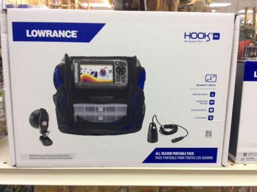 New Lowrance Hook2-4x All Season Pack Marine Fishfinder w/ 2