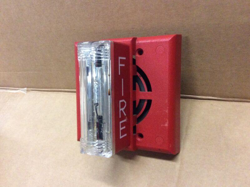 Gentex Red Fire Alarm Horn Strobe Combo SHG-24-15/75WR