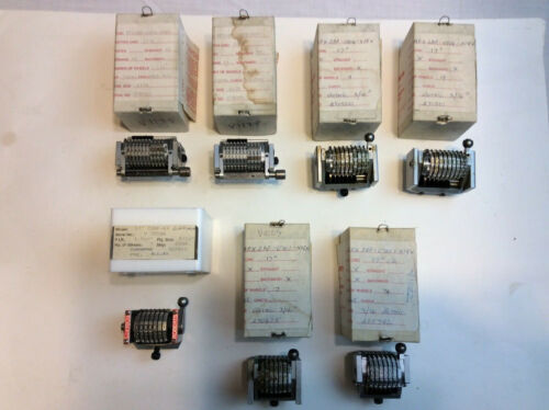 Lot of 7 Roberts Numbering Machines    NEW     FREE SHIPPING