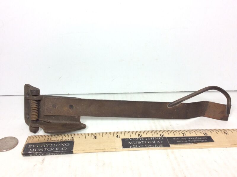 "Vtg 9.5"" Metal Door Closer Spring Antique Industrial Steampunk hand Made Forged"