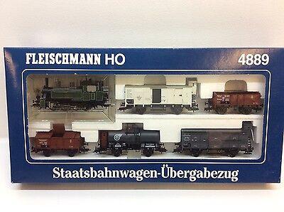 Fleischmann Spur H0 4889 Staatsbahnwagen-Übergabenzug Modelleisenbahn